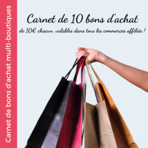 Carnet Bons d'achat multiboutiques - Mon Coeur du Commerce - SMVI