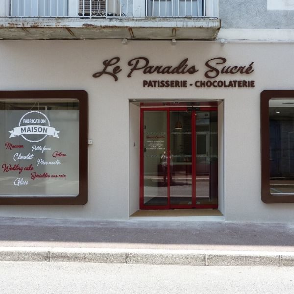 LE PARADIS SUCRE-Pâtisserie-Chocolaterie-vitrine