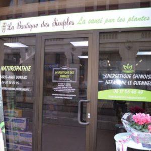 la boutique des simple - la santé par les plantes - santé naturelle-vitrine