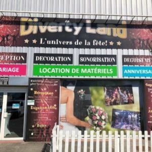 DIVERTYLAND-Commerce d'événementiel-vitrine