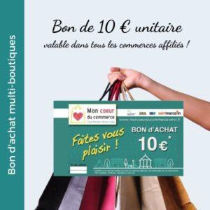 Bon d'achat multiboutique unitaire - Mon Coeur du Commerce