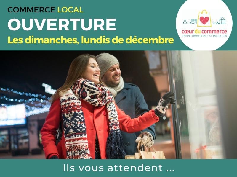 Actu - Commerce du Commerce - Ouverture dimanches et lundis de décembre